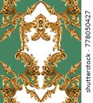 golden baroque ornament | Shutterstock . vector #778050427