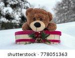 cute teddy bear in holiday... | Shutterstock . vector #778051363