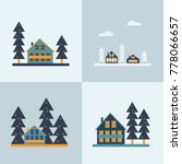 a set of winter landscapes with ... | Shutterstock .eps vector #778066657