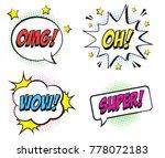 retro comic speech bubbles set...   Shutterstock .eps vector #778072183