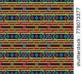 seamless knitted ornate... | Shutterstock .eps vector #778073377