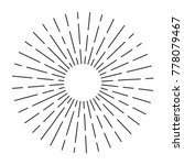vintage sunburst in lines shape ... | Shutterstock .eps vector #778079467