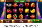 main screen for slots game.... | Shutterstock .eps vector #778089097