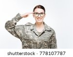 smart defense. cheerful jolly... | Shutterstock . vector #778107787