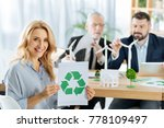 ecological project. positive... | Shutterstock . vector #778109497