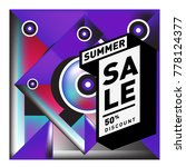 summer sale memphis style web... | Shutterstock .eps vector #778124377