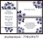 invitation with floral... | Shutterstock .eps vector #778129177