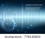 vector tech circle and... | Shutterstock .eps vector #778130833