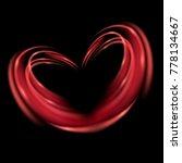 red heart. light effect... | Shutterstock .eps vector #778134667