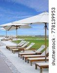 white color recliner beach... | Shutterstock . vector #778139953