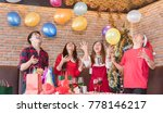christmas party cheerful... | Shutterstock . vector #778146217