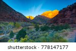 zion national park canyon... | Shutterstock . vector #778147177