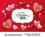 valentines day background... | Shutterstock .eps vector #778152907