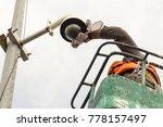a male technician doing... | Shutterstock . vector #778157497