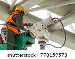 a male technician doing... | Shutterstock . vector #778159573