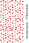 white and red seamless... | Shutterstock .eps vector #778161643