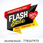 valentine's day flash sale... | Shutterstock .eps vector #778167973