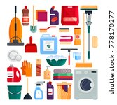 cleaning service. set house... | Shutterstock .eps vector #778170277