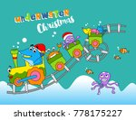 underwater christmas with fish... | Shutterstock .eps vector #778175227