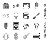 nobody icons. set of 16... | Shutterstock .eps vector #778180273