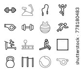 exercise icons set of 16