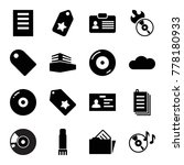 copy icons. set of 16 editable... | Shutterstock .eps vector #778180933