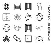 painting icons. set of 16... | Shutterstock .eps vector #778180957