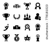 set of 16 victory filled icons... | Shutterstock .eps vector #778181023