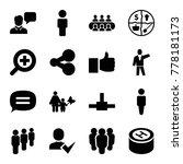 social icons. set of 16...   Shutterstock .eps vector #778181173
