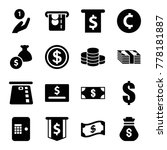 set of 16 cash filled icons... | Shutterstock .eps vector #778181887