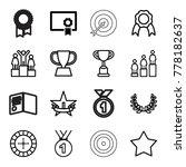 winner icons. set of 16... | Shutterstock .eps vector #778182637
