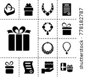 present icons. set of 13... | Shutterstock .eps vector #778182787