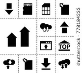 upload icons. set of 13... | Shutterstock .eps vector #778184233