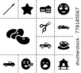 clipart icons. set of 13... | Shutterstock .eps vector #778185067
