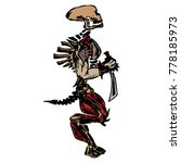 a skeleton with a sword. sketch ... | Shutterstock .eps vector #778185973