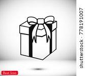 gift icon  stock vector... | Shutterstock .eps vector #778191007