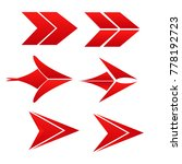 collection of red style arrow...