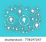 women social media network.... | Shutterstock . vector #778197247