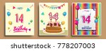 vector sets of 14 years... | Shutterstock .eps vector #778207003