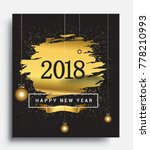 happy new year 2018 with... | Shutterstock .eps vector #778210993