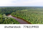 gauja national park aerial view. | Shutterstock . vector #778219903