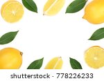 frame of lemon with leaves... | Shutterstock . vector #778226233
