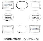 vector frames. rectangles for... | Shutterstock .eps vector #778242373