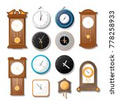 classic mechanical wall clock... | Shutterstock .eps vector #778258933