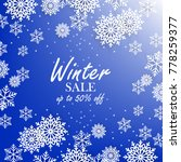 blue winter background with... | Shutterstock .eps vector #778259377