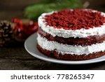 homemade cake red velvet on a... | Shutterstock . vector #778265347