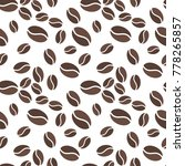 brown coffee beens on white... | Shutterstock .eps vector #778265857