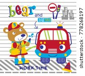 bear the rescue team funny... | Shutterstock .eps vector #778268197