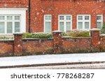 winter snow on a london street...   Shutterstock . vector #778268287