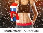 slim  bodybuilder girl  lifts... | Shutterstock . vector #778271983